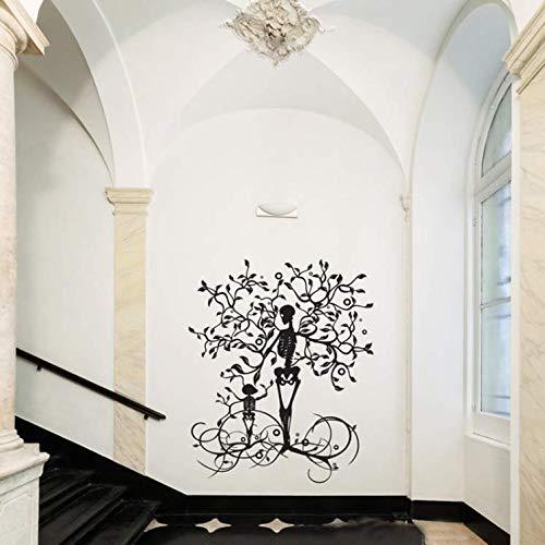 koration Skelett Baum Wandtattoo, Vinyl Baum des Lebens Wandkunst Wohnzimmer Wandtattoo, Schlafzimmer Dekor Wandsticker Mädchen Junge Tapetensticker Geschenk Interessant 40X94Cm ()