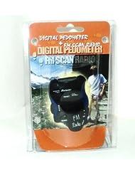 Podomètre numérique &Scan Radio FM Bleu