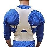 Protero Posture recto vendaje Soporte para corrección de postura y Postura Entrenamiento Fu & # X308; R mA & # X308; nner & Mujeres, Weiß