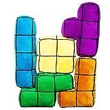 getDigital Arcade Block Kissen 5er Set | 5 große, bunte und flauschige 3D Arcade-Retro-Gaming-Kissen mit Velours-Bezug | bis zu 60 x 20 x 13cm Größe pro Kissen