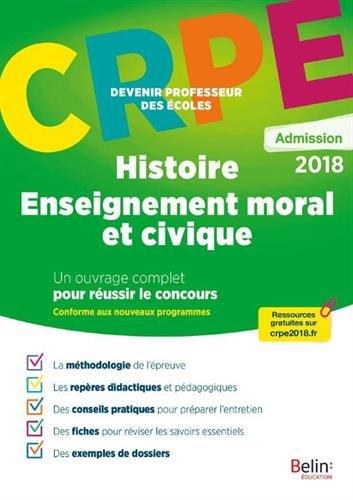 Histoire - Enseignement moral et civique : Epreuve orale d'admission CRPE