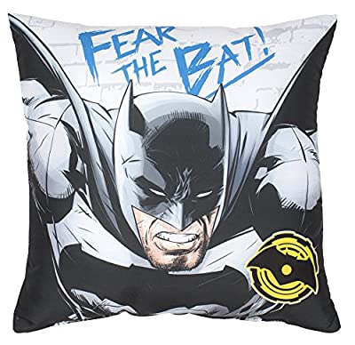 Batman Vs – Superman – Coussin carré, Polyester, multicolore