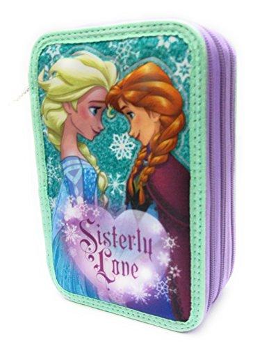 Disney – Estuche de Frozen 3D con 3 cremalleras
