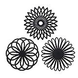 Silikon Multi Blume Topfuntersetzer (3 Stück) Premium Qualität Isolierter...