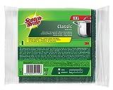 Scotch-Brite CLXNS4 Reinigungsschwamm Classic XXL, Extra kraftvolle Vliesseite, gelb/grün, 4er Pack