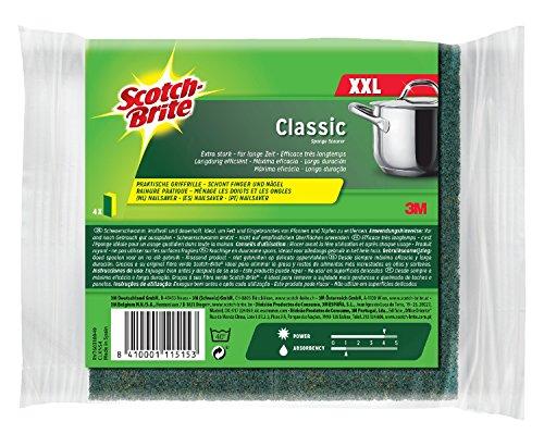 scotch-brite-clxns4-reinigungsschwamm-classic-xxl-extra-kraftvolle-vliesseite-gelb-grun-4er-pack