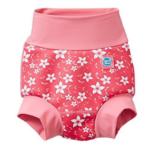 Splash About Mädchen Neue und Verbesserte Happy Nappy, Pink Blossom, 12-24 monate