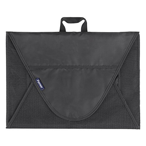 FEMOR Bolsa de Ropa Bolsa Plegable para Camisa sin Arrugar Bolsa Portátil para Organizar la Ropa en Viaje Color Negro