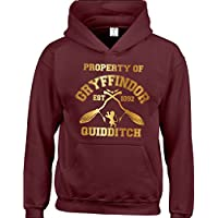 Property Of Gryffindor Quidditch team Kids Children Hoodies available from 3 to 15 Years. FREE DELIVERY INCLUDED