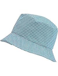 Neuf Unicol Vichy Chapeau Soleil Enfants Bucket Style Enfants Chapeau Lot De 6 - unisexe-enfant, Pourpre, 53cm
