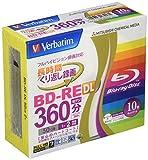 Verbatim Mitsubishi 50 Go 2 x vitesse-BD-Re Blu-ray/disque de feutre Lot de 10–jet d'encre-imprimable Chaque disque dans un boîtier (Japon Allemagne)