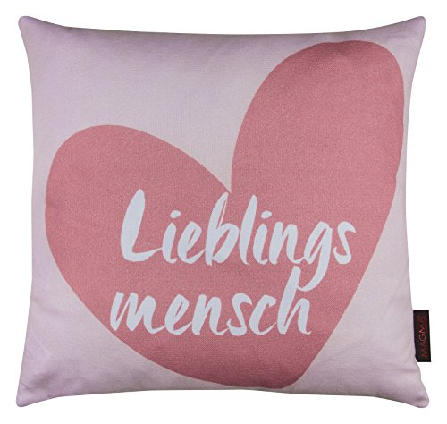 Kissen Lieblingsmensch altrose 40x40cm Made in Germany