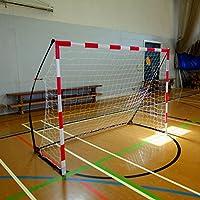 QUICKPLAY porta per pallamano portatile – Porta ultra-portatile per pallamano per uso Indoor e Outdoor, stabile mediante pesi alla base | Approvata dalla European Handball Federation [porta singola] (3 x 2M)