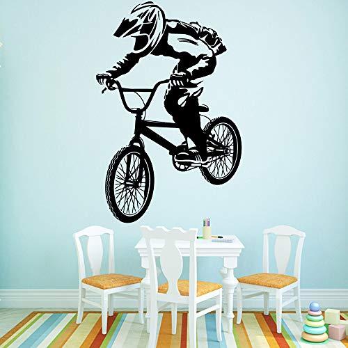 SLQUIET Adesivi murali Famiglia Ciclismo Adesivi murali Artista Vivente Adesivi murali Fai da Te in PVC Accessori per la casa e Giardino Adesivi murali Famiglia e Giardino Rosa M 30 cm X 45 cm
