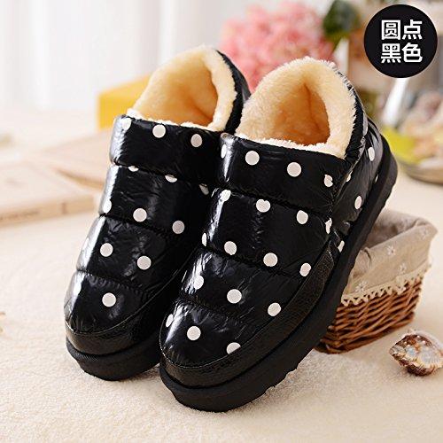 DogHaccd pantofole,Bambini pantofole di cotone cuoio e rabboccato il grazioso inverno uomini e donne calde del genitore-figlio di una famiglia di tre baby soft pacchetto spessa con scarpe di cotone Yu nero4