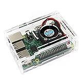 TRIXES Boîte Transparente en Acrylique avec Ventilateur de Refroidissement pour Raspberry Pi Modèle B + et Raspberry Pi 2 Modèle B
