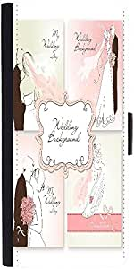 Snoogg Set Of Beautiful Vector Wedding Backgrounds Easy To Edit Perfect For Weddin Designer Protective Phone Flip Case Cover For Redmi 2 Prime