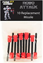 RoboAttack by ThinkGizmos ® Remote Control Robot - Spare Missiles Only (pack of 10)