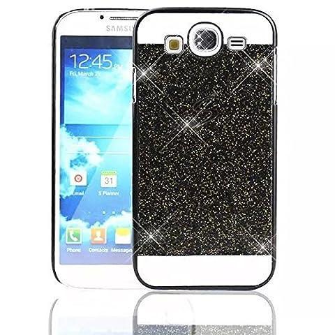 Sunroyal Samsung Galaxy S3 i9300 / S3 Neo i9301 Handy Hülle Schutz Bling Hart Case Harte Glitzer Diamant Luxus Gel Crystal Kristall Zurück Hard Back Cover Rückseite, Black