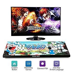 HLLGAME Pandora's Box Home Arcade Game Console Konsole, 2200 Classic-Spiele Joystick Spielkonsole, Kundenbezogene Schaltflächen, 1280×720 Full HD, Unterstützt PS3, HDMI und VGA Ausgang, QM06