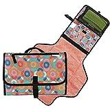 Baby-Reise-Windel Wickelauflage, tragbare Windel Mat, einfach zu tragen und enthält Lagerung für Windeln und Tücher