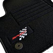 Car Lux NAR03259 - Alfombras Alfombrillas Personalizadas a medida en Velour ribete negro