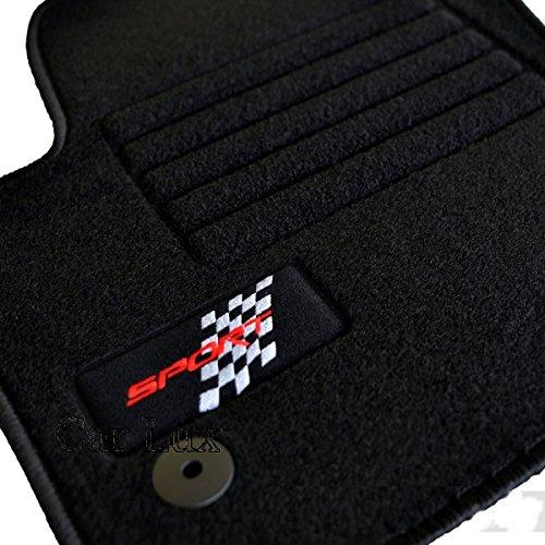 Car Lux - Alfombras Alfombrillas para SEAT SPORT Ibiza 6J ribete negro