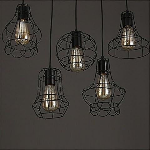 MJJ Boutique lusso semplice la gabbia in ferro lampadari, sez. D)