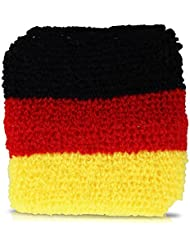 Juego de 2 muñequeras, colores de la bandera alemana
