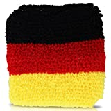 2 Stück Schweissband BRD, Deutschland Farben, WM 2010, Fanartikel, Fussball, Sportband, Textilband