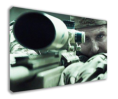 American Sniper US Navy Seal Chris Kyle Bradley Cooper auf Leinwand (111,8x 66cm/110x 65cm) - American Leinwand
