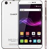 CUBOT Note S 5.5'' Smartphone Android 6.0 2 Go RAM + 16 Go ROM avec 1280x720 HD IPS Ecran / 4150mAh Batterie / Dual SIM / 5MP+8MP Dual Camera / MTK6580 Quad Core 1.3 GHz / WiFi / GPS (BLANC)