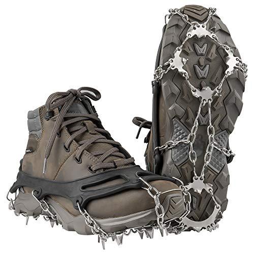 Terra Hiker Schuhspikes, Schuhkrallen mit 18 Zähnen, Steigeisen mit Edelstahlspikes für...