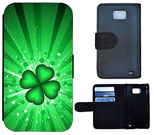 Flip Cover Schutz Hülle Handy Tasche Etui Case für (Apple iPhone 5 / 5s, 1272 Schildkröte Meer Blau) 1269 Kleeblatt Glück Grün