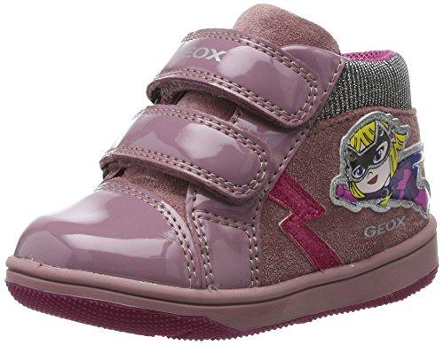 Geox Baby Mädchen B New Flick Girl E Sneaker, Pink (Dk Pink), 25 EU
