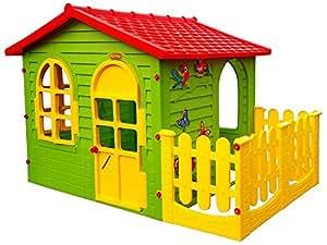 mochtoys 5907442104981 big haus f r kinder mit garten spielhaus spielzeug. Black Bedroom Furniture Sets. Home Design Ideas
