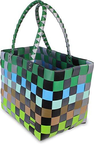 GearUp Kunststoff Flechtkorb - Wäschekorb - optimal als Einkaufs- oder Strandkorb geeignet Farbe Classic/Element