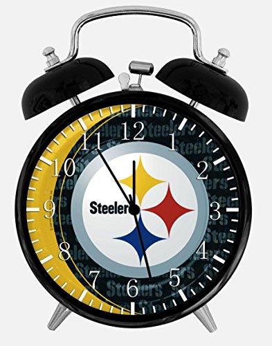 Alarm Clock Steelers Wecker mit Zwei Glocken, 10,2 cm, Dekoration für Zuhause, Büro, X54