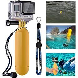 XCSOURCE® Poignée Grip flottant Bâton Pôle Manfrotto plongée + Vis + accessoire de courroie de poignet pour GoPro Hero 2 3 3+ 4 jaune OS97