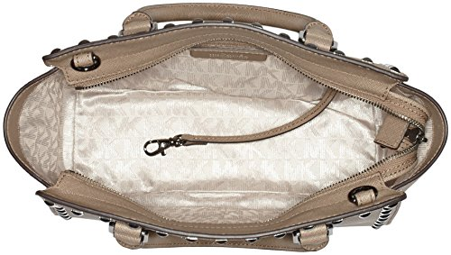 dark Zip Top Beige Damen Dune One Size Henkeltasche Michael Studded Medium Kors Selma pHYqPT