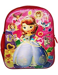 3b6ac616eac Tinystar Kids Trends Disney Princess Sofia Polyester 13 Inches 3D Character  Embossed School Bag