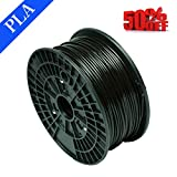 Abcs Printing-Schwarz Filament PLA 1.75 mm 3D-Filament PLA,Bruttogewicht 1 kg Hohe Qualität und zuverlässiger 3D-Druck-Filament für 3D-Drucker und 3D 3D-Stift, besser als ABS-Filament