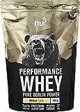 nu3 Premium Performance Whey Protein Vanilla, 1kg Pulver - Voller Vanille-Geschmack und gute Löslichkeit bei hohem Proteingehalt