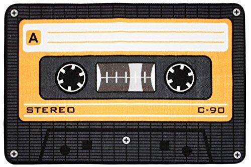 Rockbites Design Tape-Orange Teppich, Polyester, Blau, 50 x 80 x 2 cm