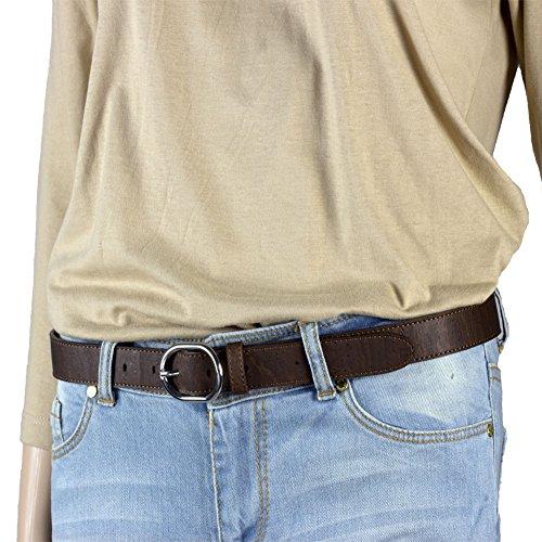 Corkor Herren Gürtel Ratsche Gürtel für Männer 25mm Breit Vegan aus Veganer Braun korkleder - 3
