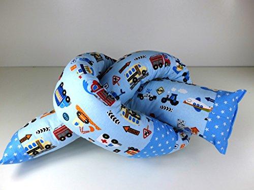 Preisvergleich Produktbild Bettschlange - Bettrolle - Nestchen - Lagerungskissen 100 - 200 cm Autos/Sterne (180 cm)