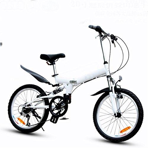 MASLEID 20 pouces vélo pliant 6 vitesses VTT , white