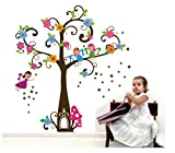 #9: Decals Design 'Colorful Angel Girl Tree' Wall Sticker (PVC Vinyl, 70 cm x 50 cm)