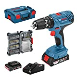 Bosch Professional 18V System Accuschroefklopboormachine Gsb 18V-21 (Incl. 2X 2,0 Ah Accu, 40-Delige Accessoireset, In L-Boxx)