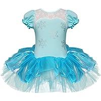 iiniim - Costume body da principessa con tutù, bambine, per carnevale, halloween, danza